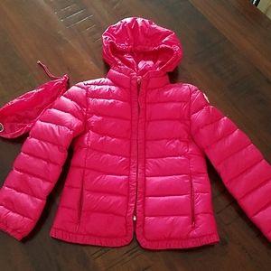 Mincler girls jacket hot pink color 5 6 down